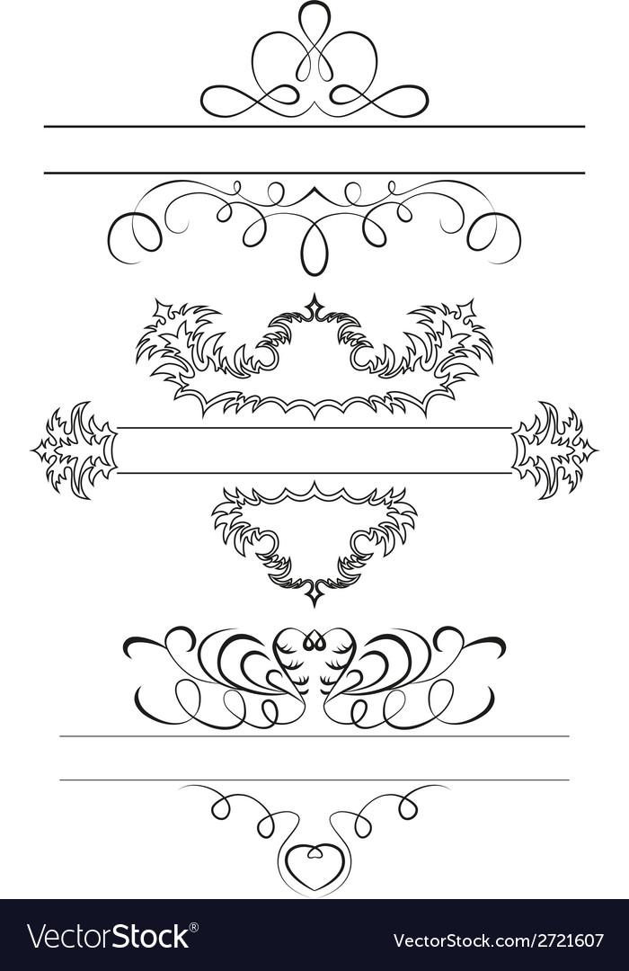 Calligraphic set vector | Price: 1 Credit (USD $1)