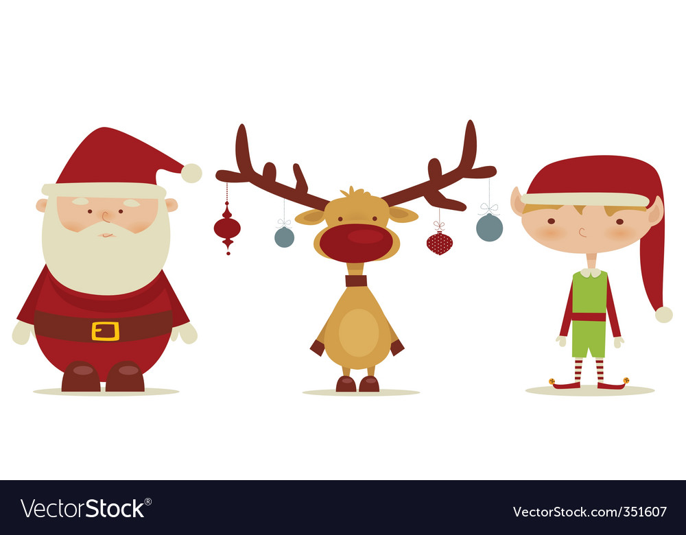 Christmas trio vector