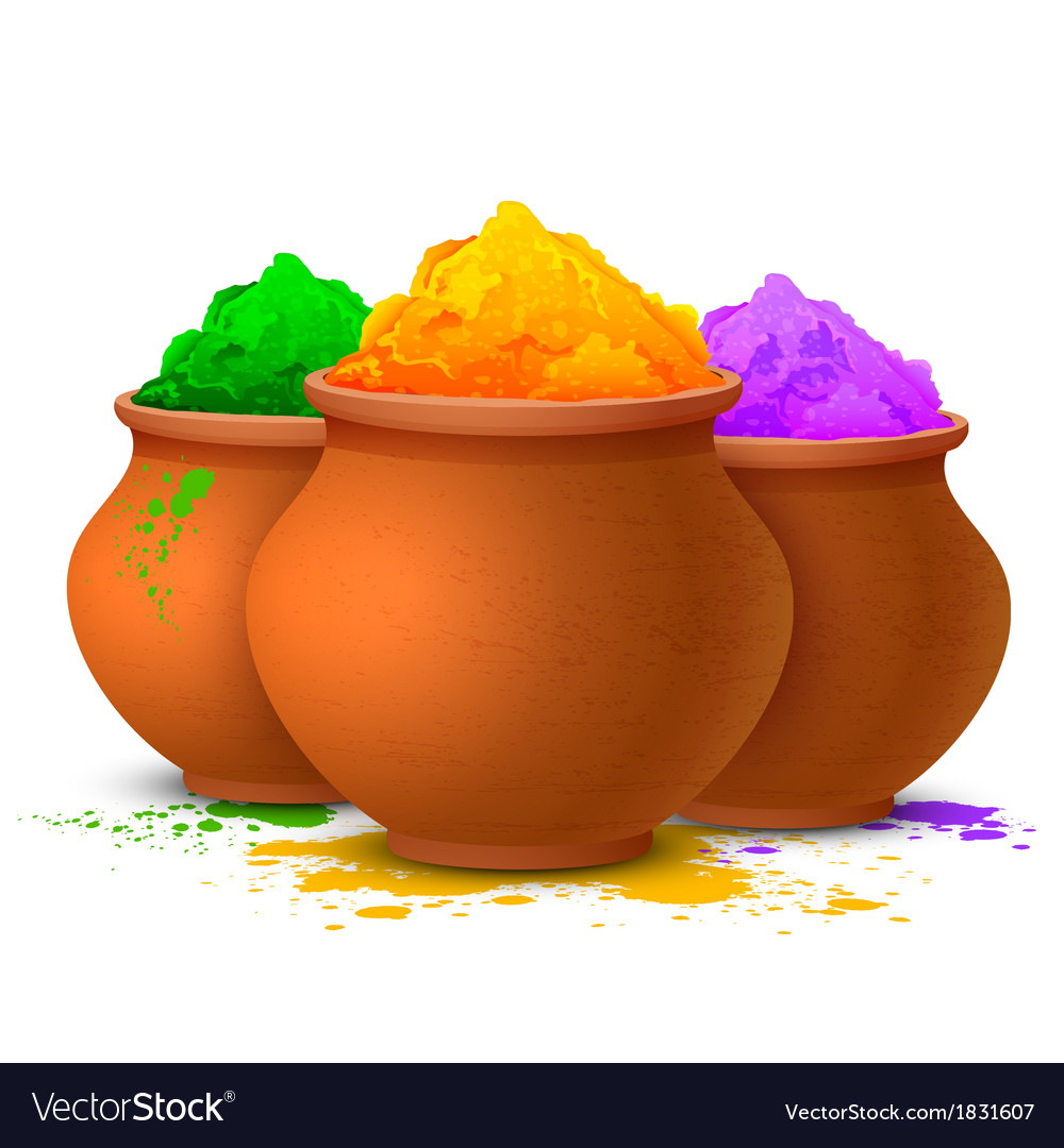 Colorful happy holi vector | Price: 1 Credit (USD $1)