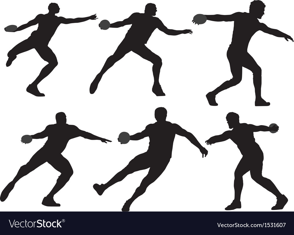 Discus throw silhouette vector | Price: 1 Credit (USD $1)