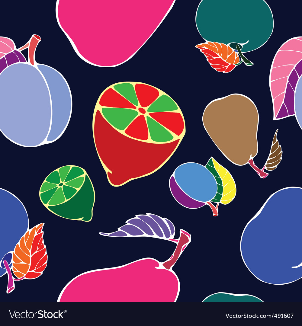 Negative fruit print vector | Price: 1 Credit (USD $1)