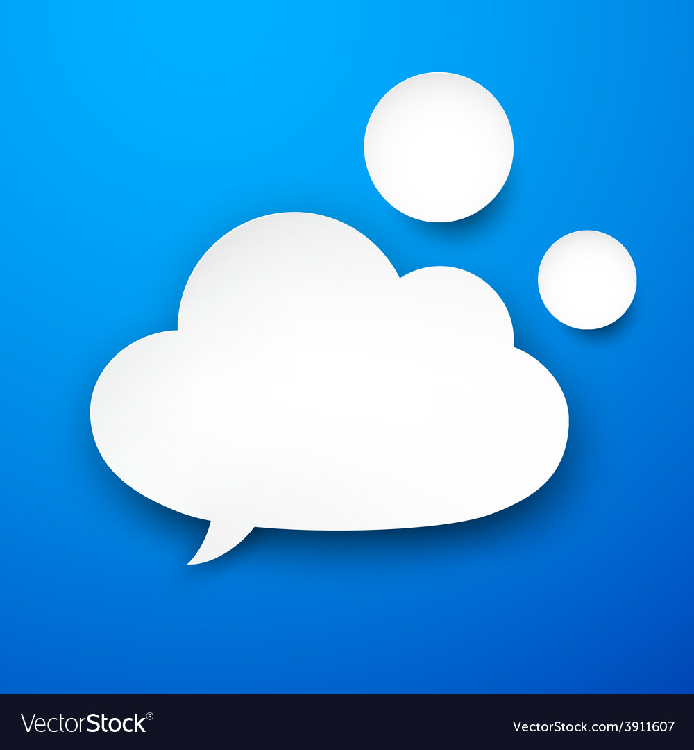 Paper white cloud vector | Price: 1 Credit (USD $1)