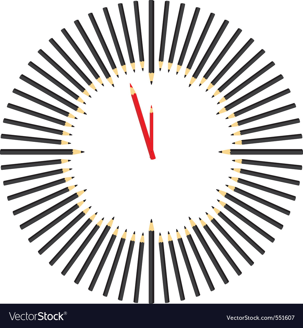 Pencil hours vector | Price: 1 Credit (USD $1)