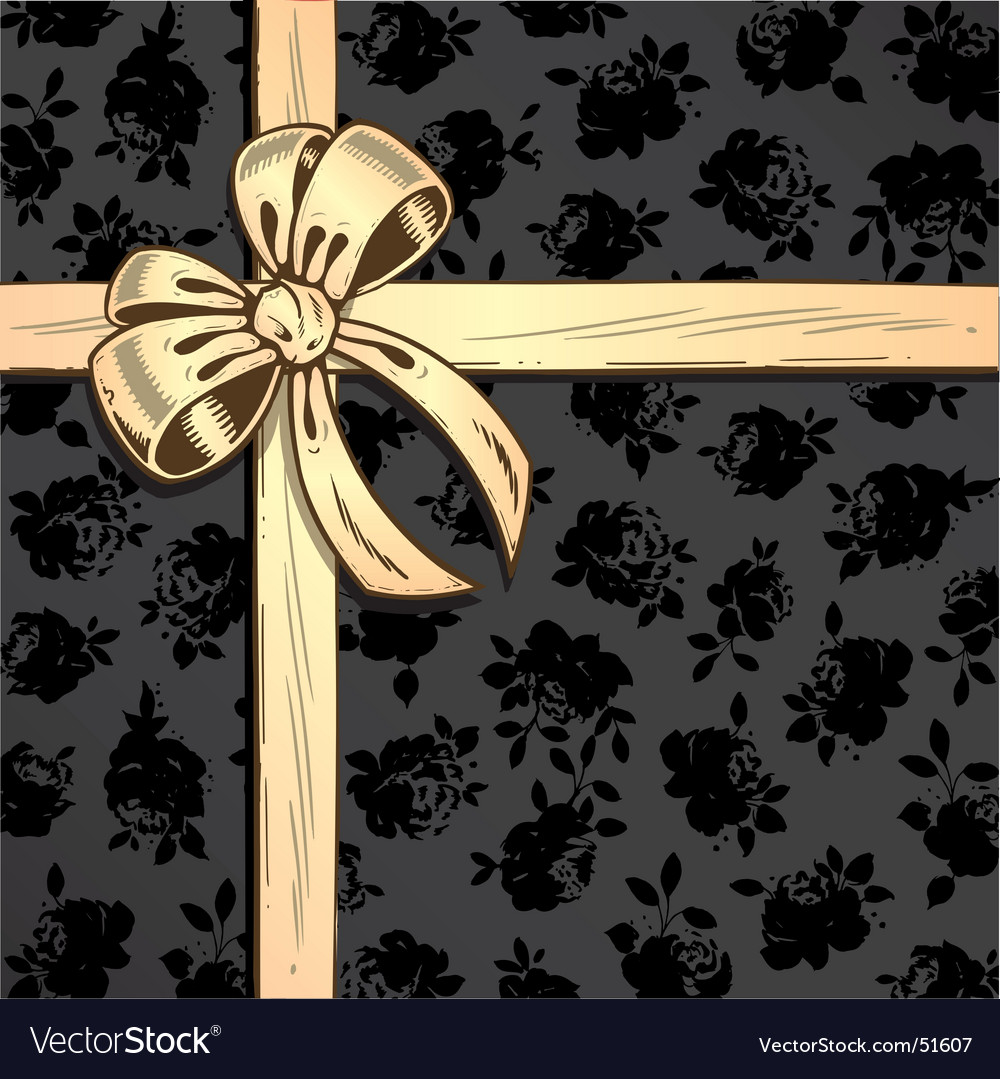 Ribbon roses background vector | Price: 1 Credit (USD $1)