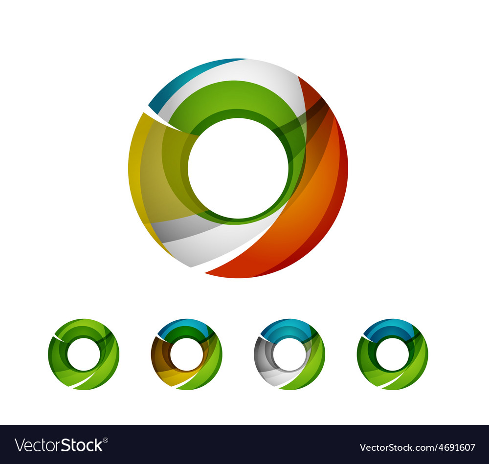 Set of abstract geometric company logo ring vector | Price: 1 Credit (USD $1)