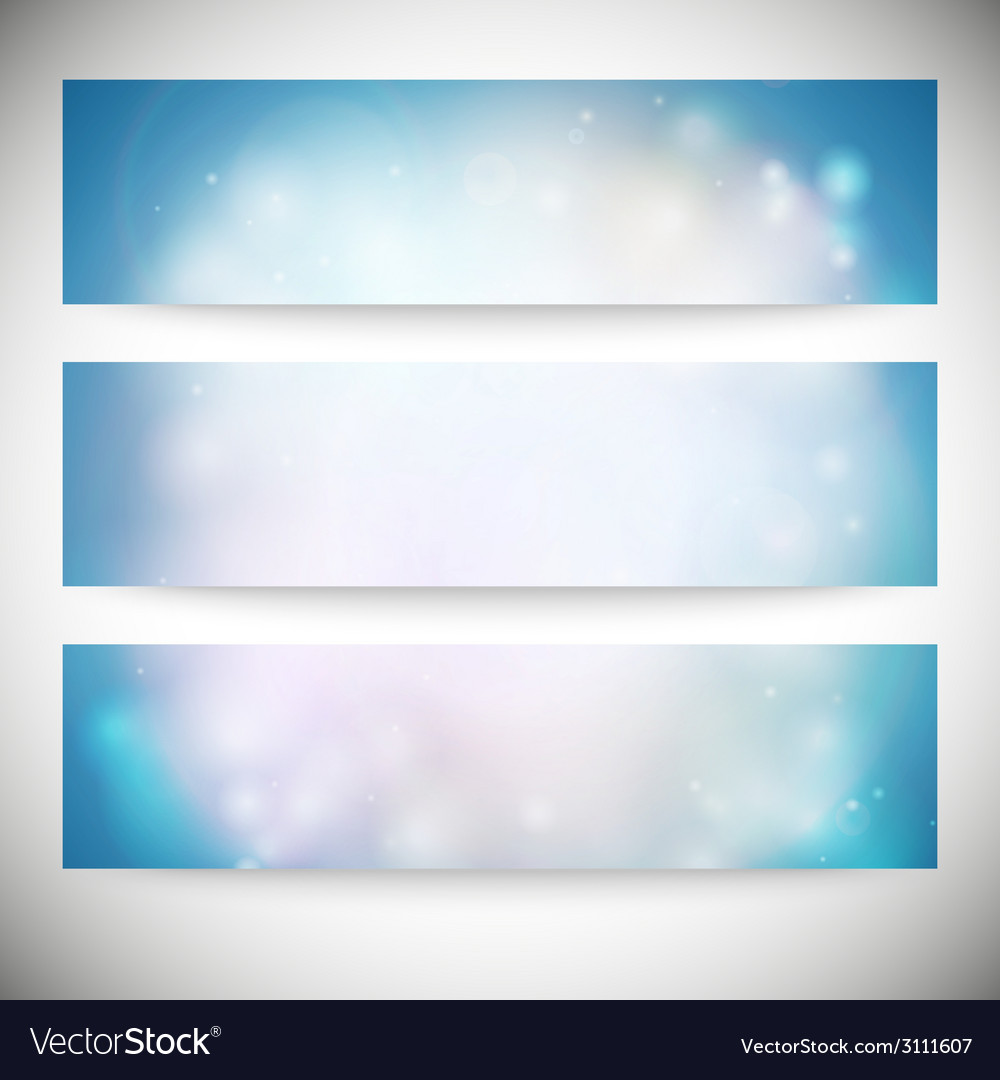 Set of horizontal banners abstract multicolored vector | Price: 1 Credit (USD $1)
