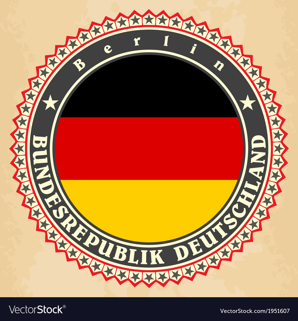 Vintage label cards of germany flag vector | Price: 1 Credit (USD $1)