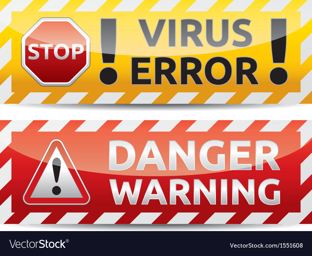 Danger banner vector | Price: 1 Credit (USD $1)
