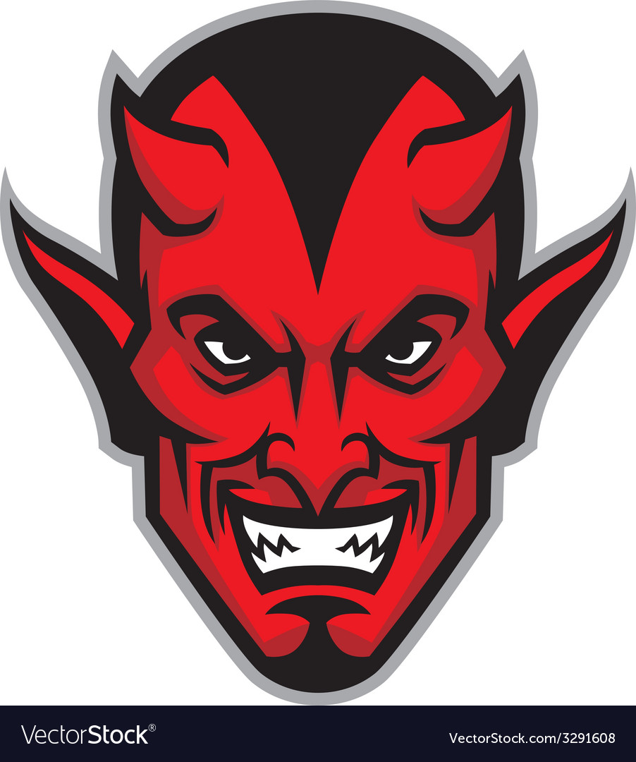 Devil head mascot vector | Price: 1 Credit (USD $1)
