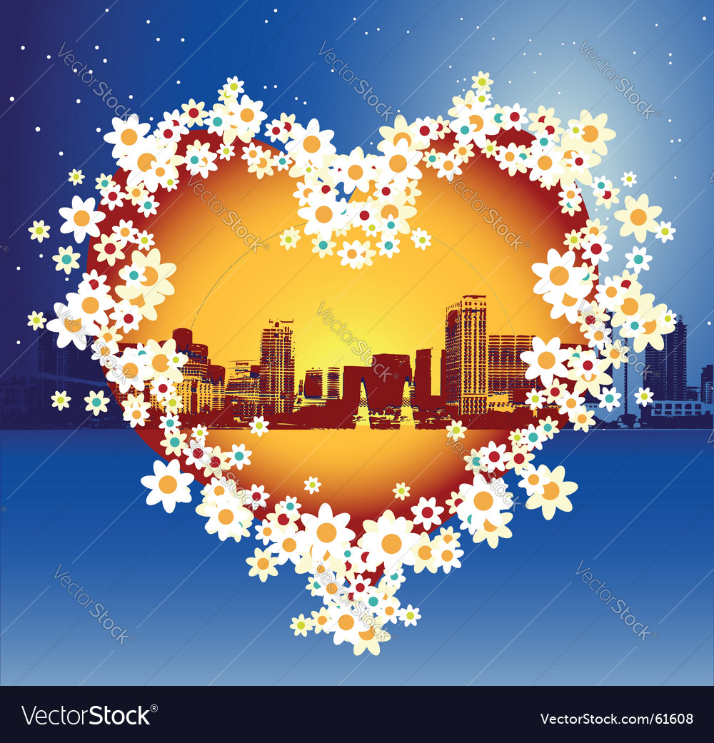 Favorite city vector | Price: 1 Credit (USD $1)