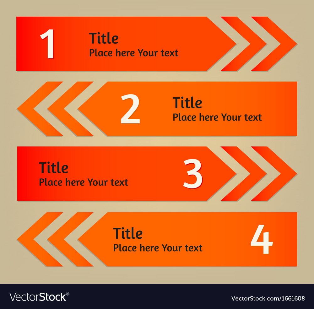 Infographic arrows background vector   Price: 1 Credit (USD $1)