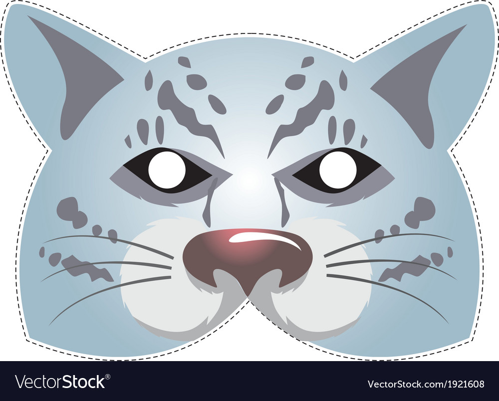 Mask snow leopard vector | Price: 1 Credit (USD $1)
