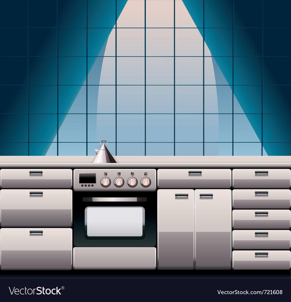 Modern kitchen vector | Price: 1 Credit (USD $1)