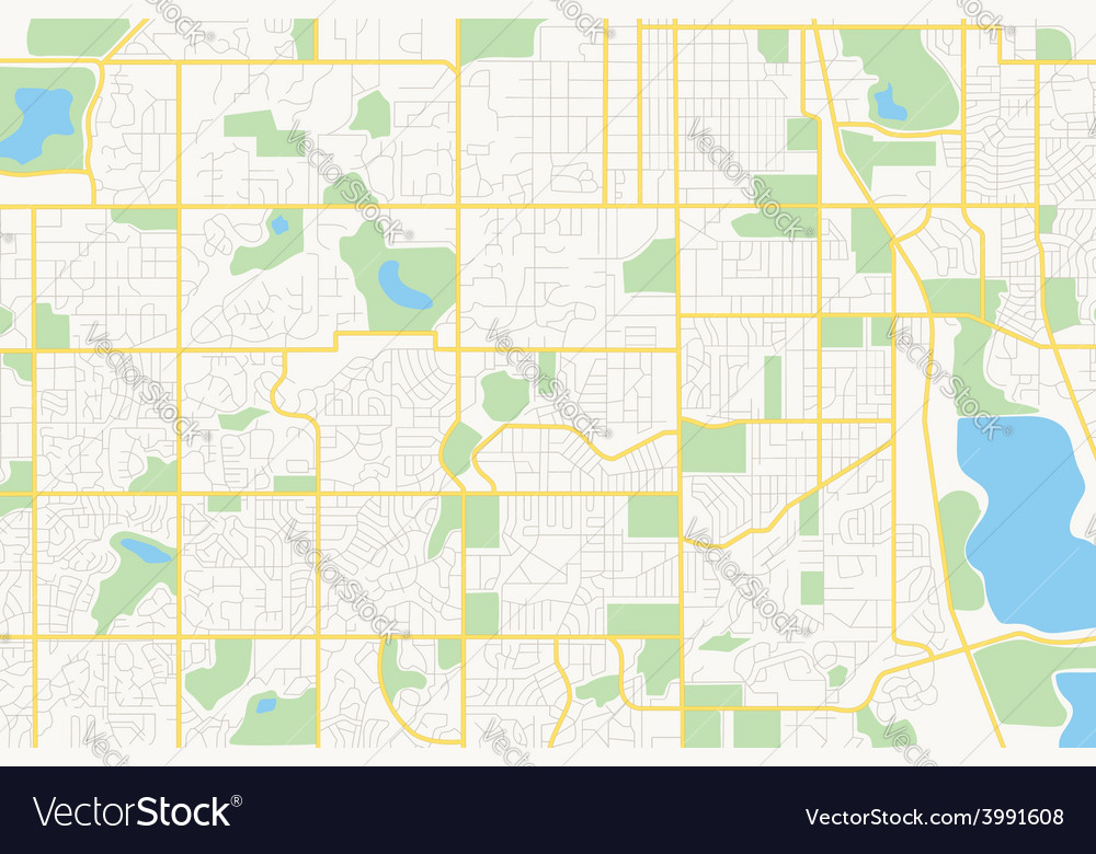 Streets on the plan - city vector | Price: 1 Credit (USD $1)