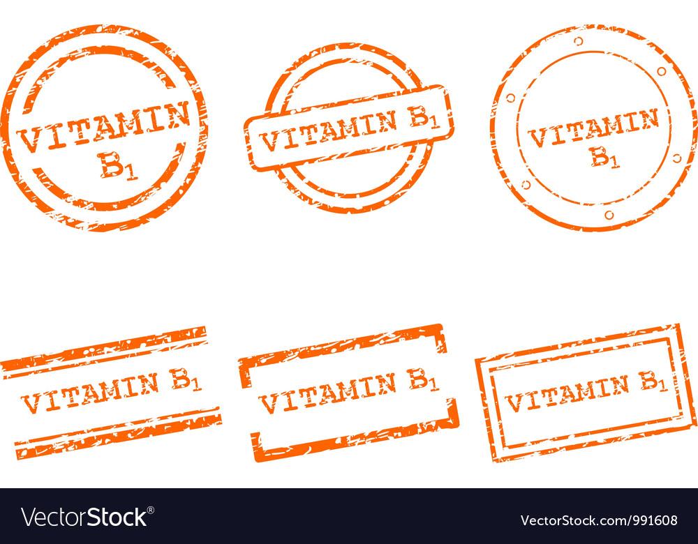 Vitamin b1 stamps vector | Price: 1 Credit (USD $1)