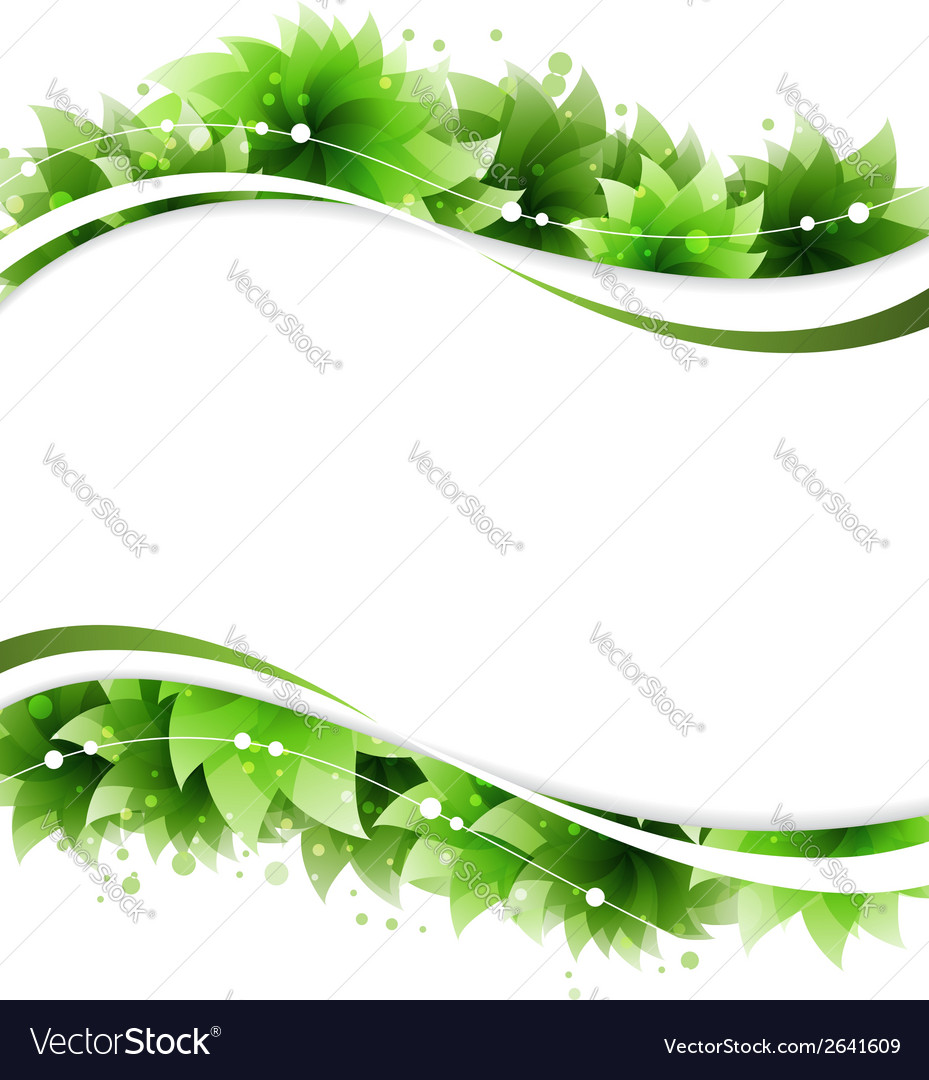 Abstract green flowers vector | Price: 1 Credit (USD $1)