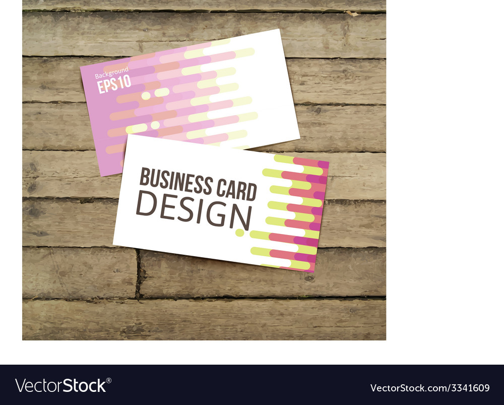 Business card on the wooden table vector | Price: 1 Credit (USD $1)