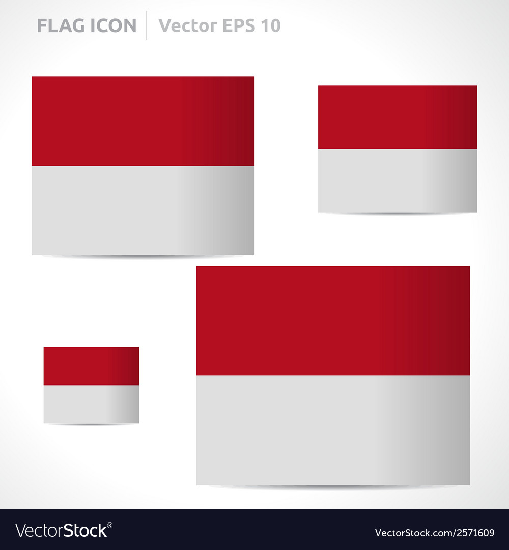 Monaco flag template vector | Price: 1 Credit (USD $1)