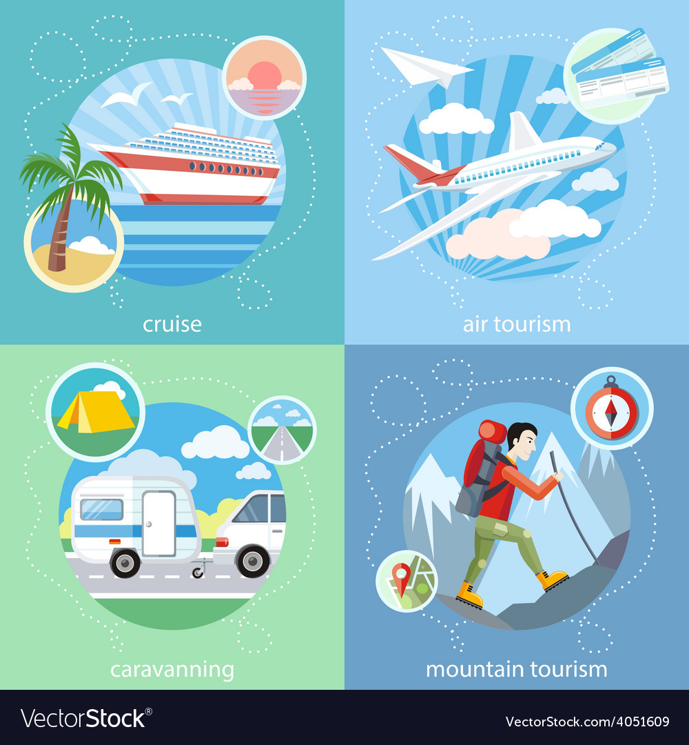 Mountain cruise air tourism vector | Price: 1 Credit (USD $1)