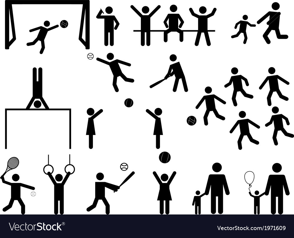 Pictogram people fun and sport activity vector | Price: 1 Credit (USD $1)