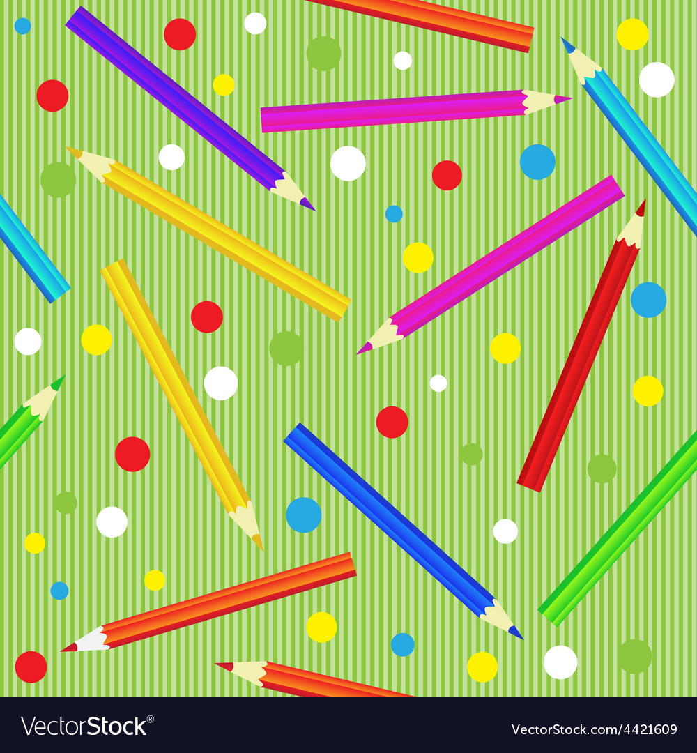 Seamless texture with pencils template for vector | Price: 1 Credit (USD $1)