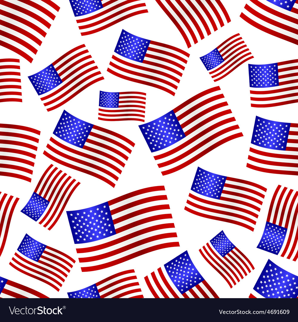 Usa national flag celebration seamless pattern vector | Price: 1 Credit (USD $1)