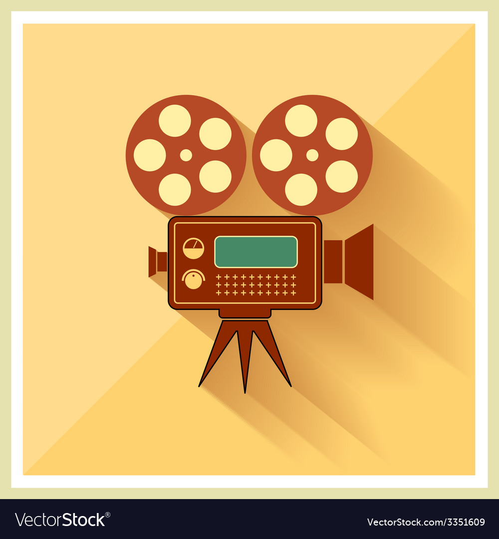 Video movie camera on retro background vector | Price: 1 Credit (USD $1)