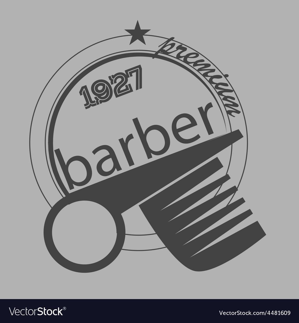 Vintage barber shop logo labels badges and vector   Price: 1 Credit (USD $1)