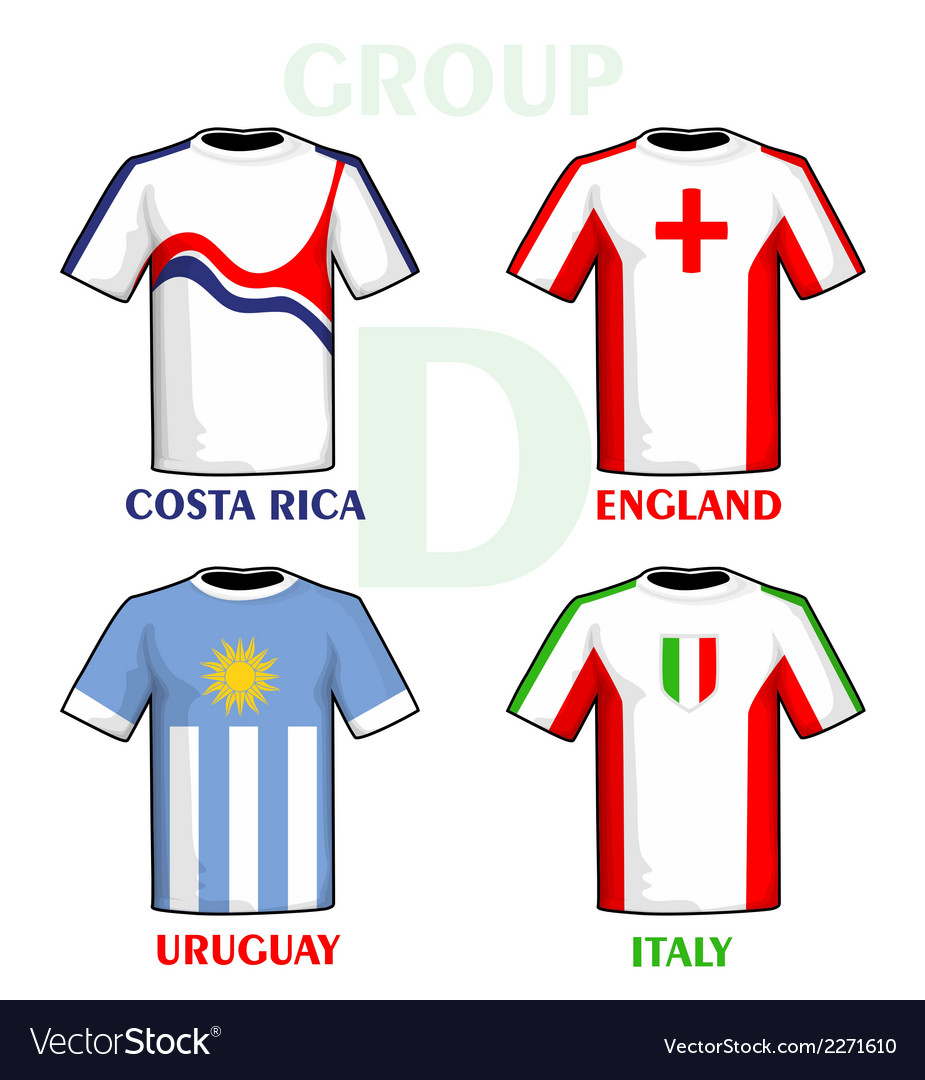 Football world cup jerseys vector | Price: 1 Credit (USD $1)