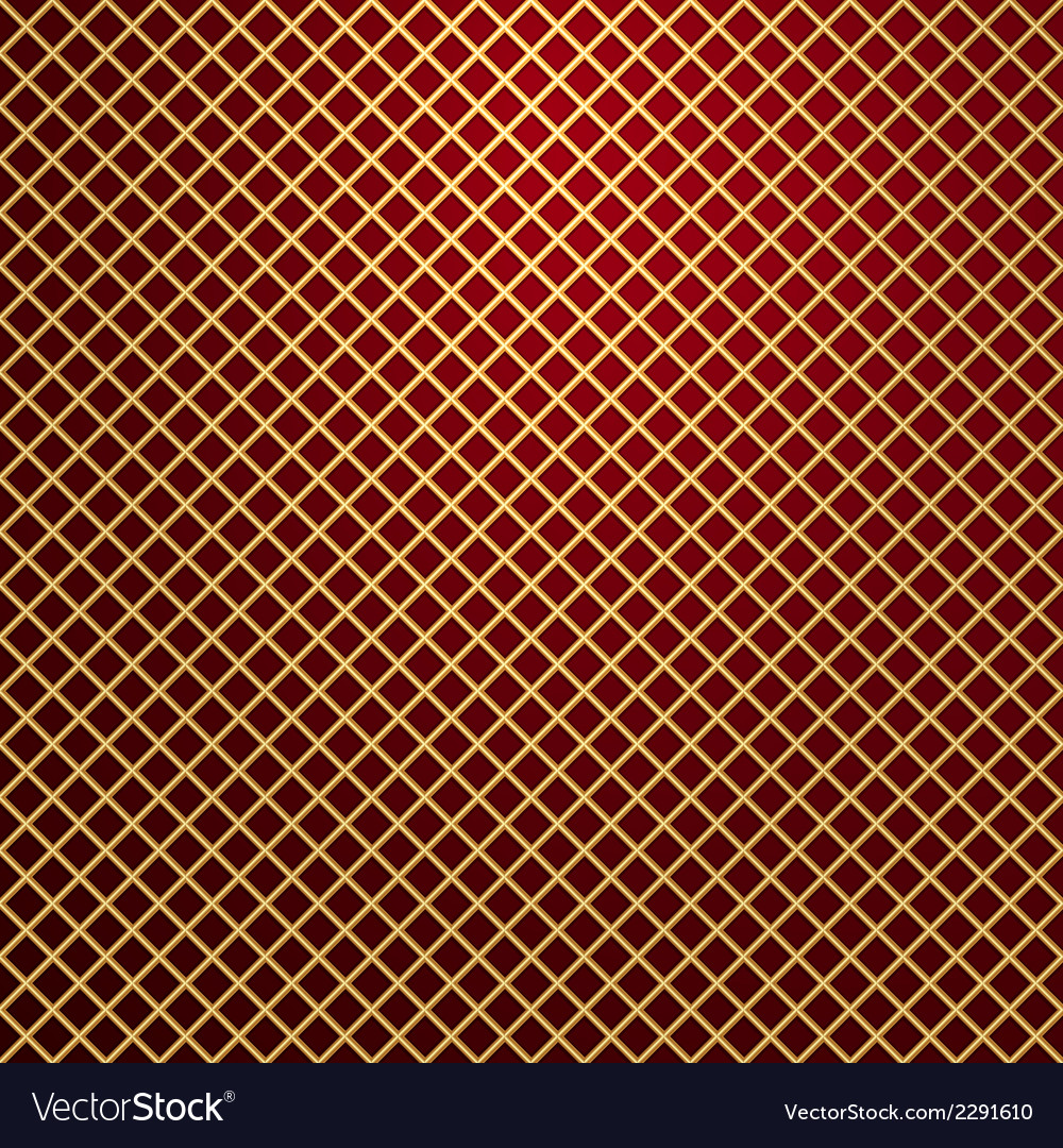 Gold lattice on red background vector | Price: 1 Credit (USD $1)