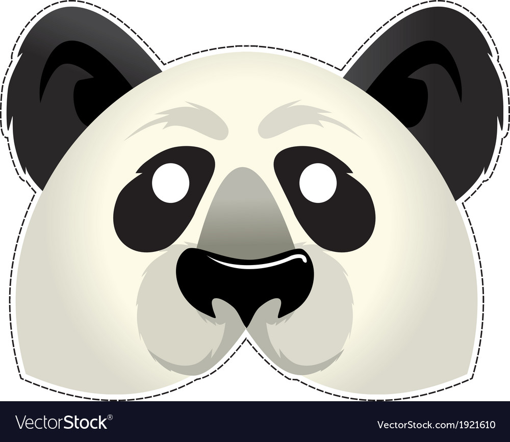 Mask panda vector | Price: 1 Credit (USD $1)