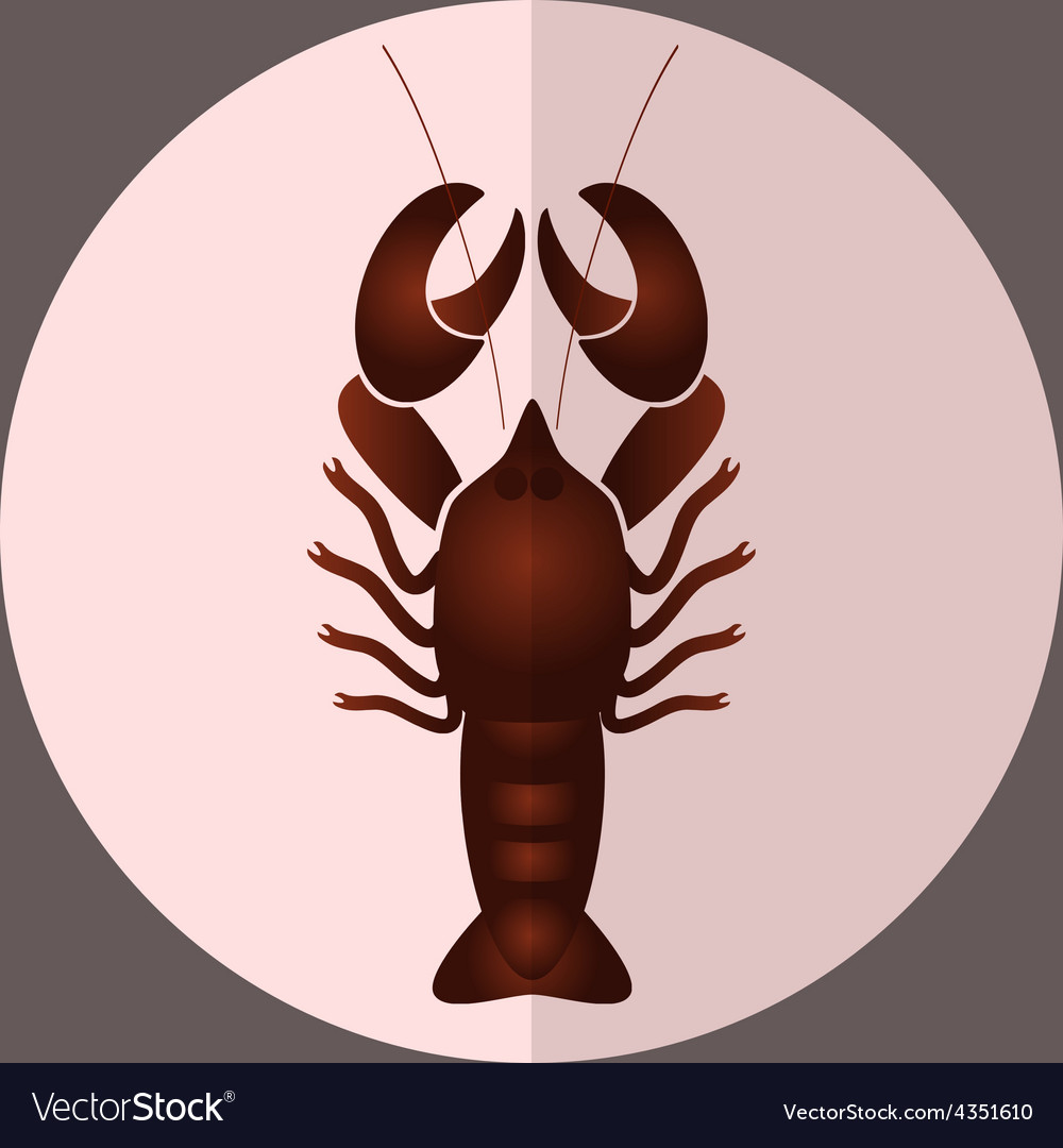 One delicious giant lobster for lunch eps10 vector | Price: 1 Credit (USD $1)