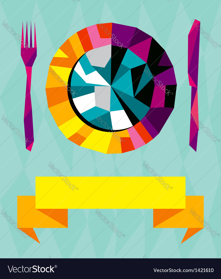 Origami gourmet composition vector | Price: 1 Credit (USD $1)