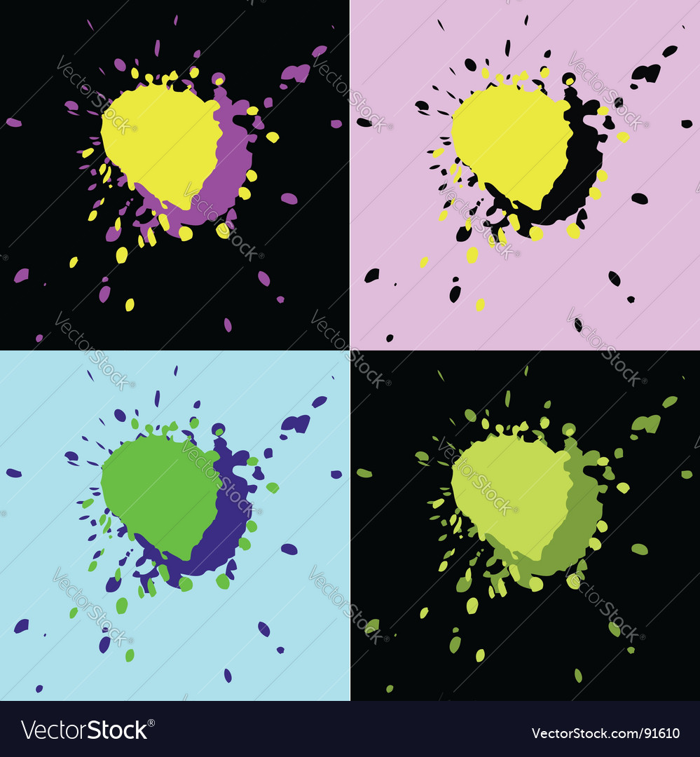 Set of four grunge elements vector | Price: 1 Credit (USD $1)