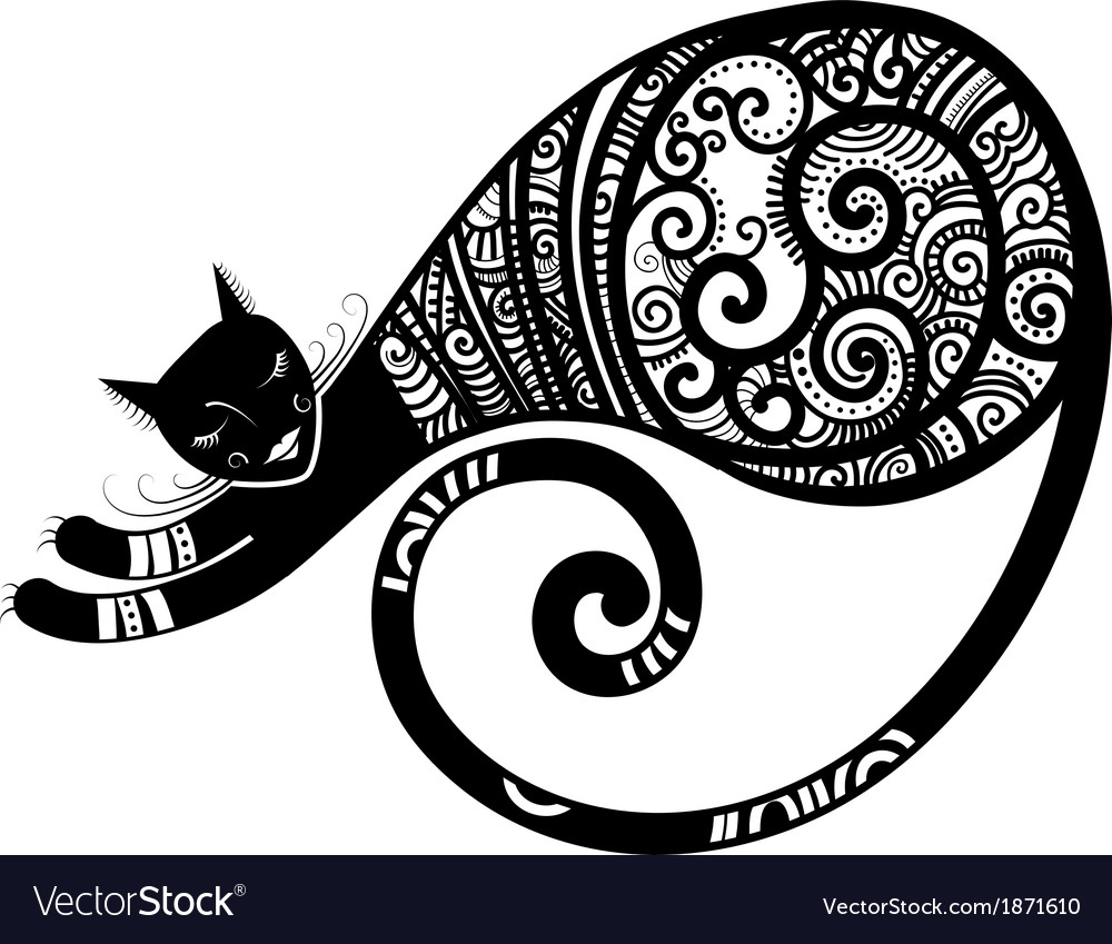 Sleeping cat vector | Price: 1 Credit (USD $1)