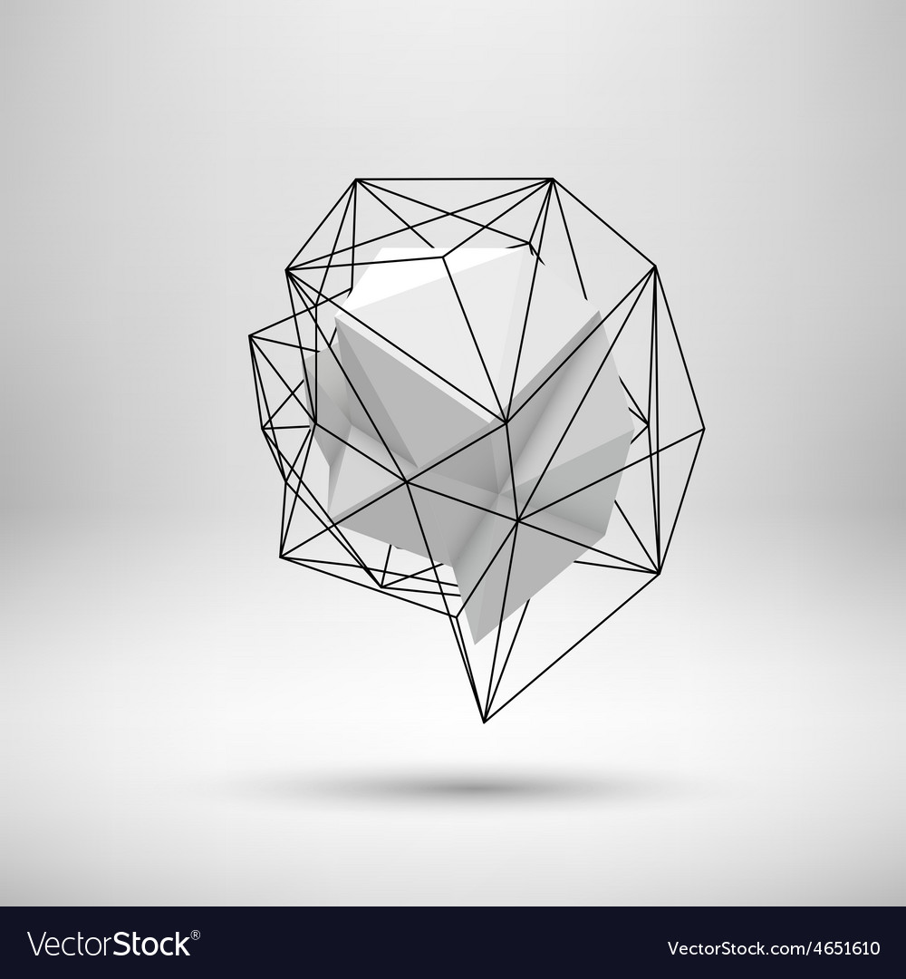White abstract polygonal background vector | Price: 1 Credit (USD $1)