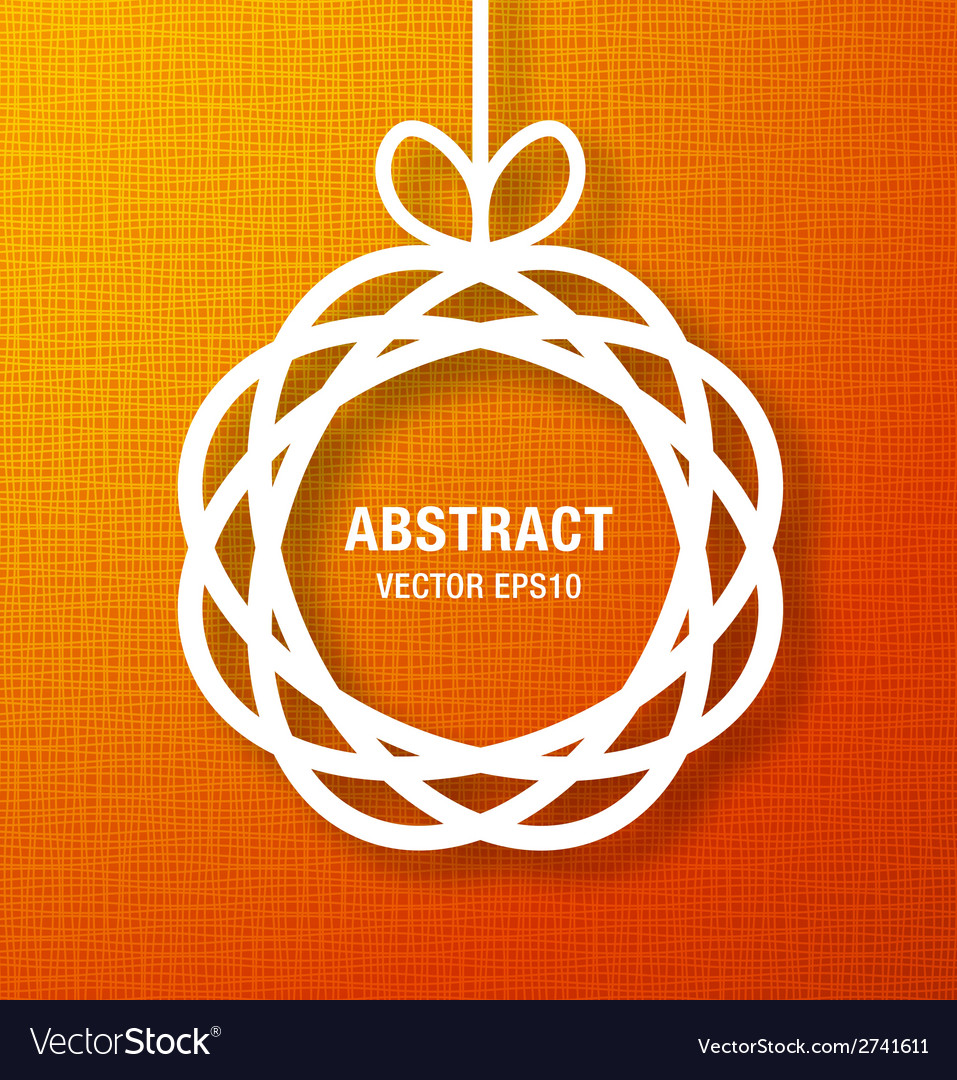 Abstract circle paper applique on orange backgroun vector | Price: 1 Credit (USD $1)