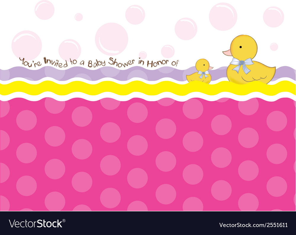 Baby shower card with duck toys vector   Price: 1 Credit (USD $1)