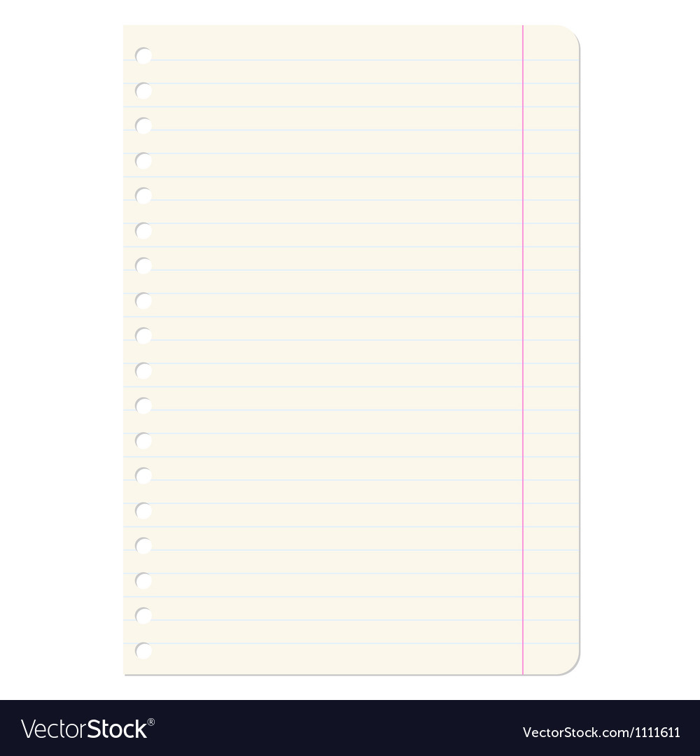 Blank sheets of paper sheet in line vector | Price: 1 Credit (USD $1)