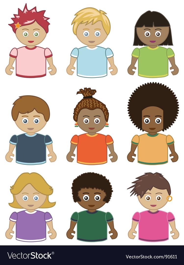 Children icons vector   Price: 1 Credit (USD $1)