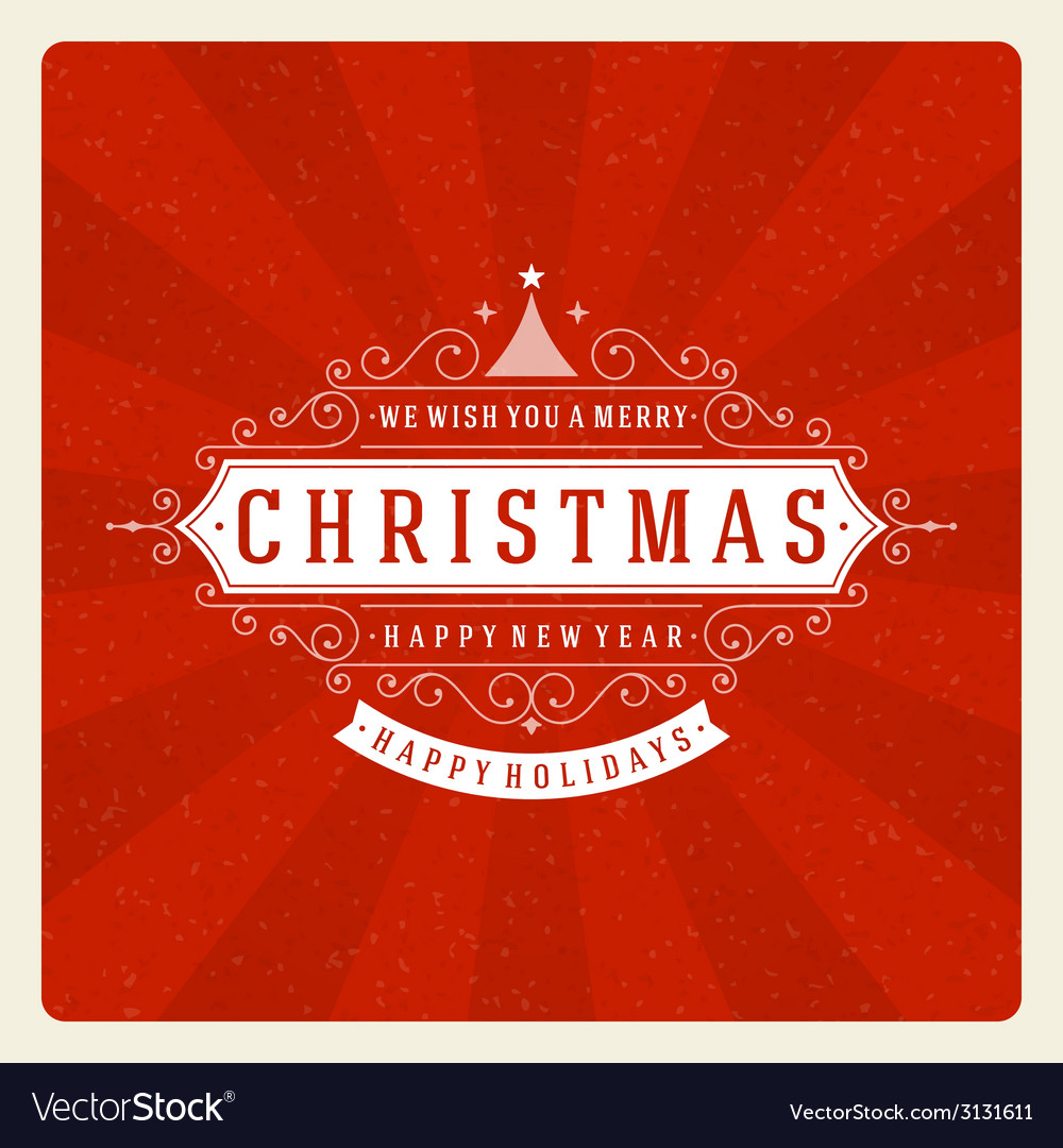 Christmas retro typography and ornament decoration vector | Price: 1 Credit (USD $1)