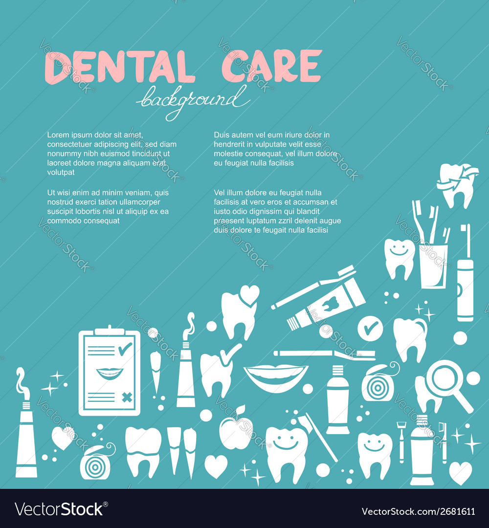 Dental care background vector | Price: 1 Credit (USD $1)