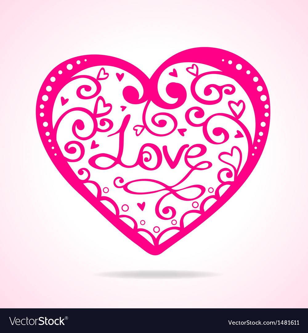 Heart silhouette vector | Price: 1 Credit (USD $1)