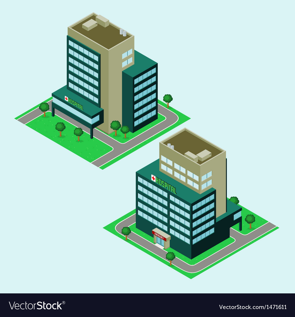 Isometric hospital vector | Price: 1 Credit (USD $1)