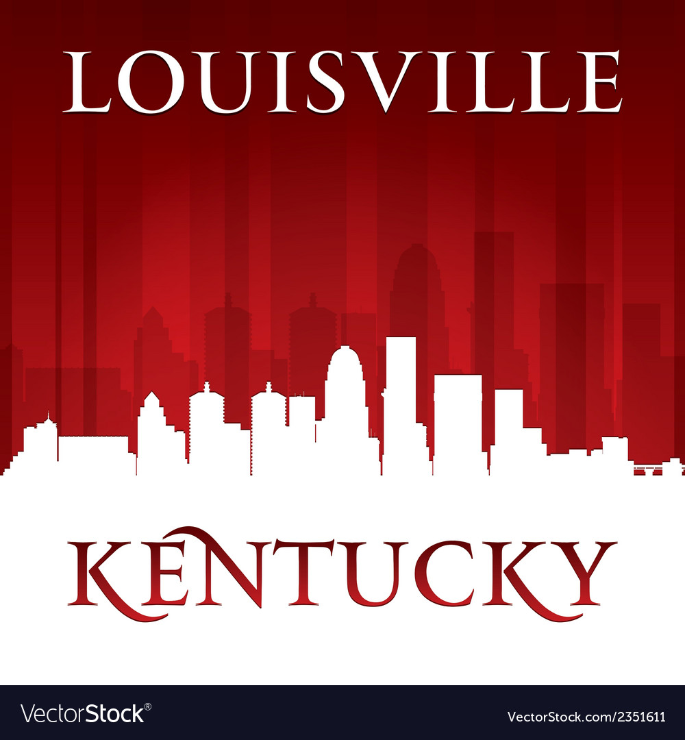 Louisville kentucky city skyline silhouette vector | Price: 1 Credit (USD $1)