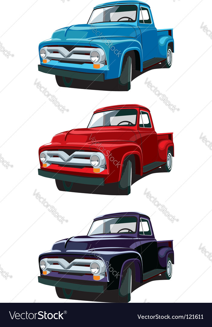 Old-fashioned pickup vector | Price: 1 Credit (USD $1)