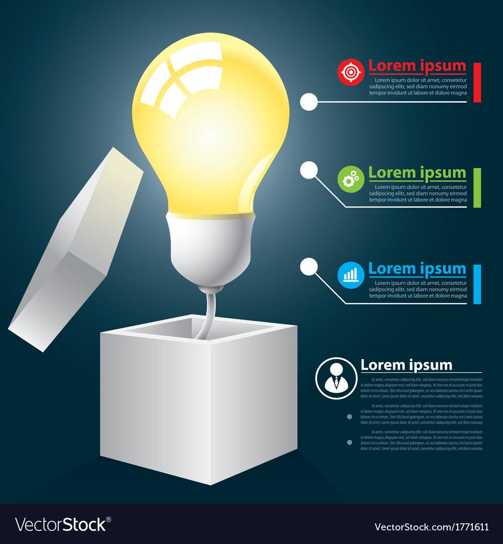 Open idea infographic vector   Price: 1 Credit (USD $1)