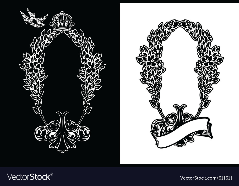 Royal ornate wreath vector | Price: 1 Credit (USD $1)