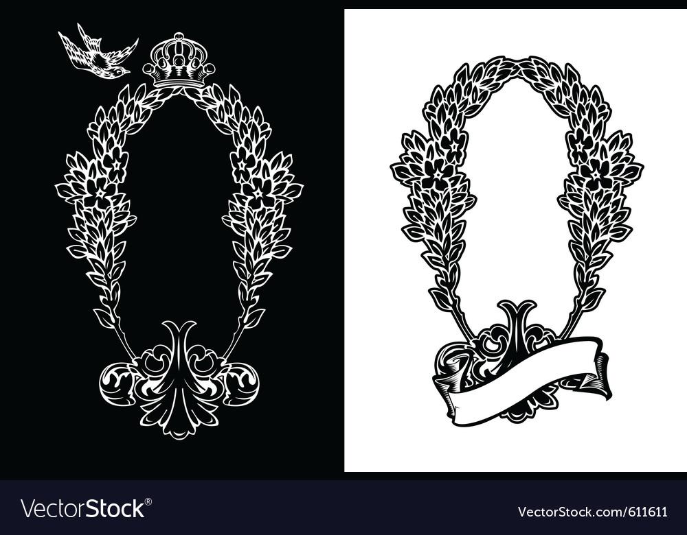 Royal ornate wreath vector | Price: 1 Credit (USD $1)