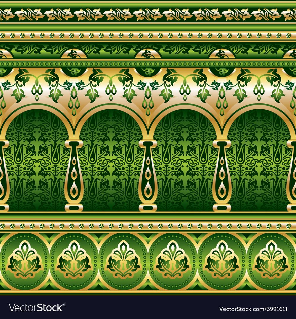Silk green ornament vector   Price: 1 Credit (USD $1)